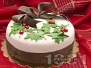 Рецепта Коледна торта със захарен фондан